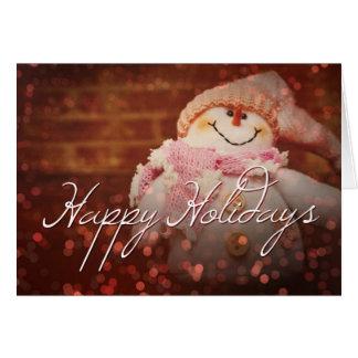 Boas festas gelado o cartão de Natal do boneco de