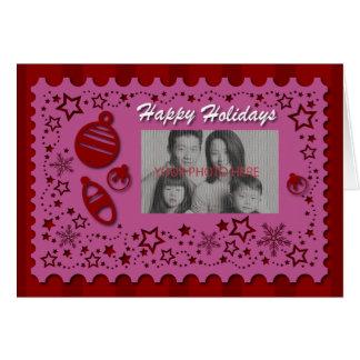 Boas festas laço cartão comemorativo