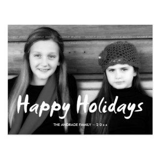 Boas festas o feriado da foto do Natal deseja o Cartoes Postais