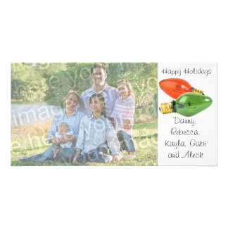 Boas festas o italiano ilumina o cartão com fotos