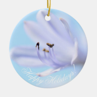 Boas festas ornamento cerâmico da flor lindo