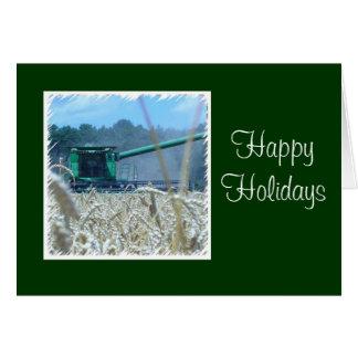 Boas festas para a fazenda ou o negócio da família cartão comemorativo