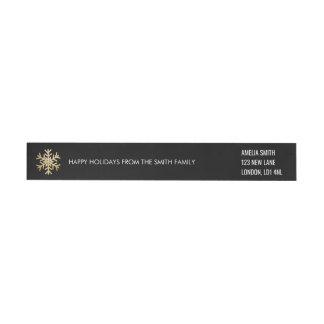 Boas festas - preto do Natal + etiqueta do ouro