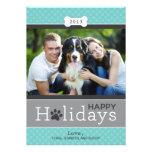 Boas festas tema do cão de filhote de cachorro do  convites personalizado