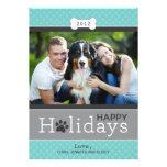 Boas festas tema do cão de filhote de cachorro do  convite personalizados