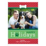Boas festas tema do cão de filhote de cachorro do  convites personalizados