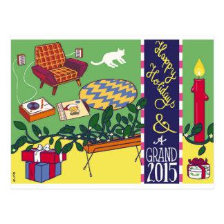 Boas festas & um 2015 grande! cartão postal