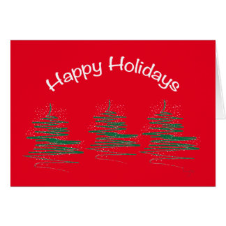Boas festas, vermelho contemporâneo cartão comemorativo