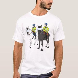 Bobinas metropolitanas do cavalo camiseta