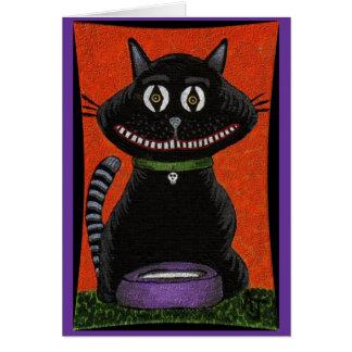 BOBO o COLAR do CAT PRETO & do CRÂNIO - cartão do