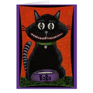 Bobo o gato do Dia das Bruxas - cartão (2)