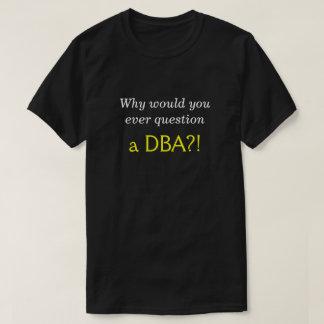 """Bobo, soberbo """"porque você nunca questionaria um camiseta"""
