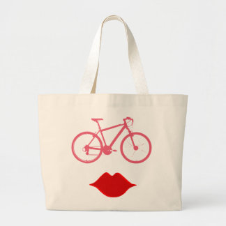 boca da bicicleta da mulher bolsa