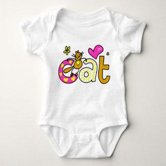 Body gato body para bebê