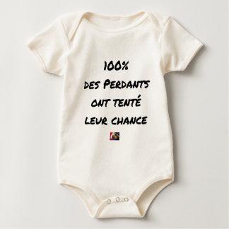 Body Para Bebê 100% dos Perdedores tentaram a sua Possibilidade