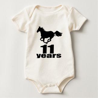 Body Para Bebê 11 anos de design do aniversário