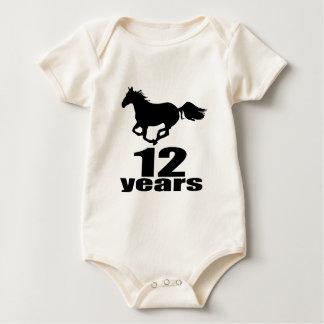 Body Para Bebê 12 anos de design do aniversário