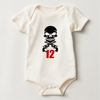 Body Para Bebê 12 designs do aniversário