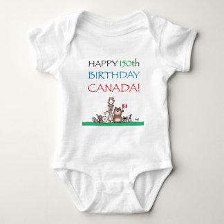 Body Para Bebê 150th aniversário feliz Canadá!