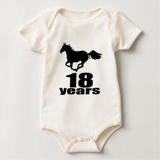 Body Para Bebê 18 anos de design do aniversário