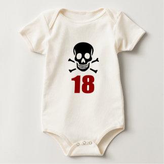 Body Para Bebê 18 designs do aniversário