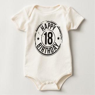 Body Para Bebê 18o EFEITO do SELO do ANIVERSÁRIO