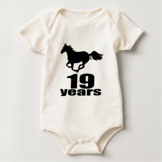 Body Para Bebê 19 anos de design do aniversário
