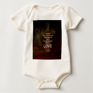 Body Para Bebê 1 citação dos versos da bíblia do 13:13 dos