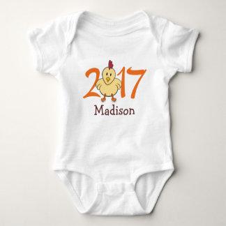 Body Para Bebê 2017 anos do galo (personalize a versão)