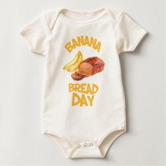 Body Para Bebê 23 de fevereiro - dia do pão de banana