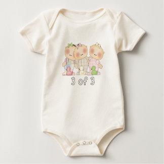 Body Para Bebê 3 3 da objectiva tripla Cuties