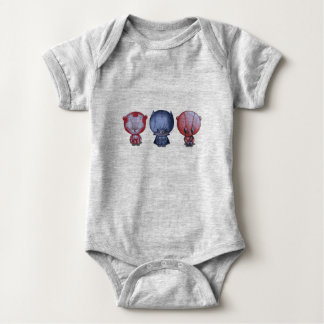 Body Para Bebê 3 heróis pequenos