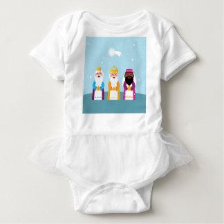 Body Para Bebê 3 reis pintados mão