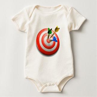 Body Para Bebê 3D arremessa o BullsEYE Onesey