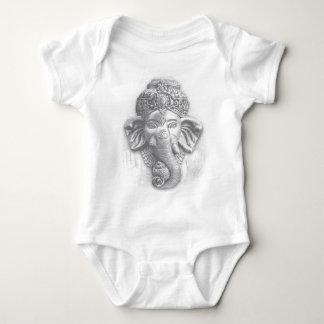 Body Para Bebê 3d senhor Ganesha - OM