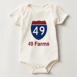 Body Para Bebê 49 fazendas - uma em cada milha quadrada…