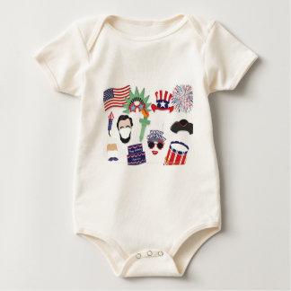 Body Para Bebê 4o do feriado de julho - Dia da Independência