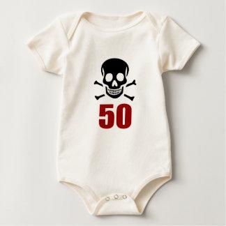 Body Para Bebê 50 designs do aniversário