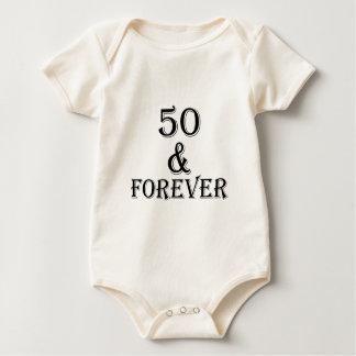 Body Para Bebê 50 e para sempre design do aniversário