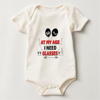 Body Para Bebê 50th presente de aniversário engraçado do ano