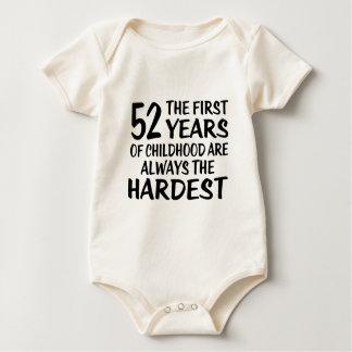 Body Para Bebê 52 o primeiro design do aniversário dos anos
