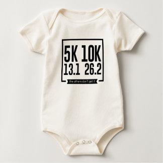 Body Para Bebê 5K 10K 13,1 25,2 corredores que funcionam a raça