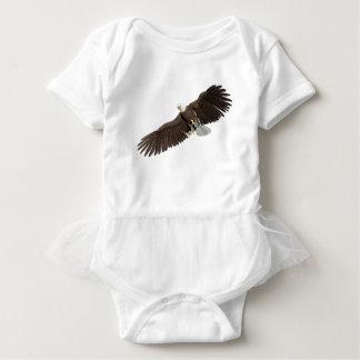 Body Para Bebê A águia americana com as asas em para baixo afaga