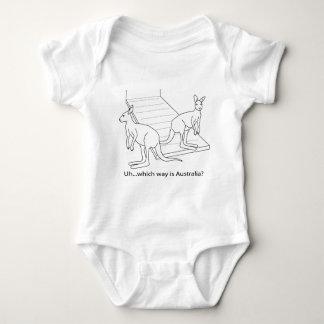 Body Para Bebê A arca Austrália de Noah do canguru