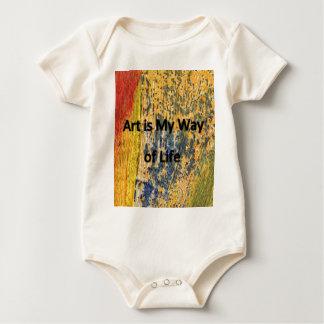 Body Para Bebê A arte é meu modo de vida