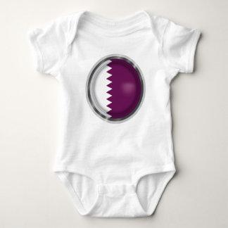 Body Para Bebê A bandeira abstrata de Qatar, Qatari colore o pano
