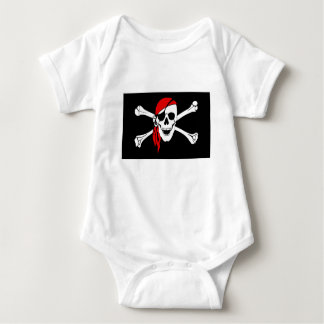 Body Para Bebê A bandeira de pirata desossa o símbolo do perigo