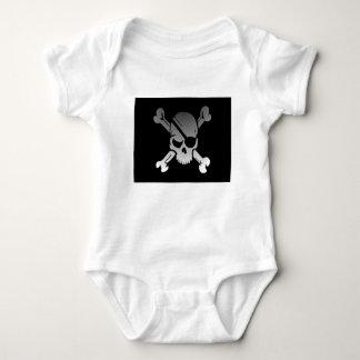 Body Para Bebê A bandeira de pirata dos Crossbones do crânio