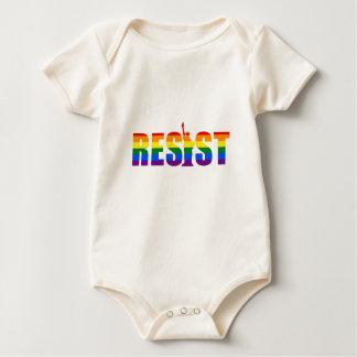 Body Para Bebê A bandeira do arco-íris de LGBT resiste direitos