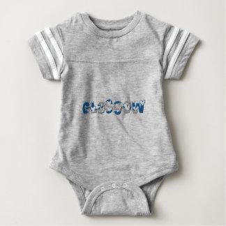 Body Para Bebê A bandeira escocesa de Glasgow Scotland colore a